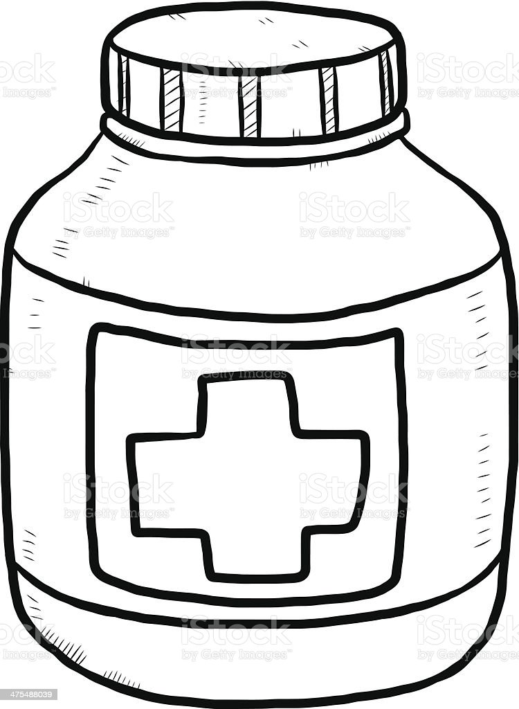 drug bottle cartoon stock vector art more images of black and rh istockphoto com Medicine Bottle Clip Art RX Bottle Clip Art