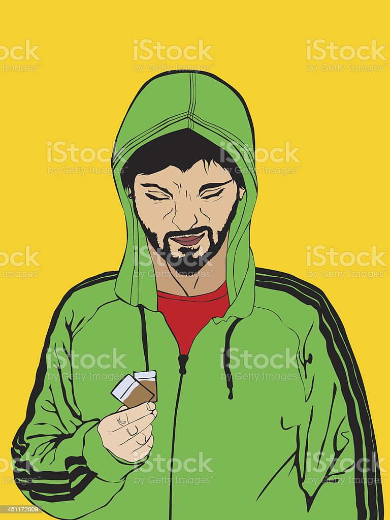 Drug dealer royalty-free stock vector art