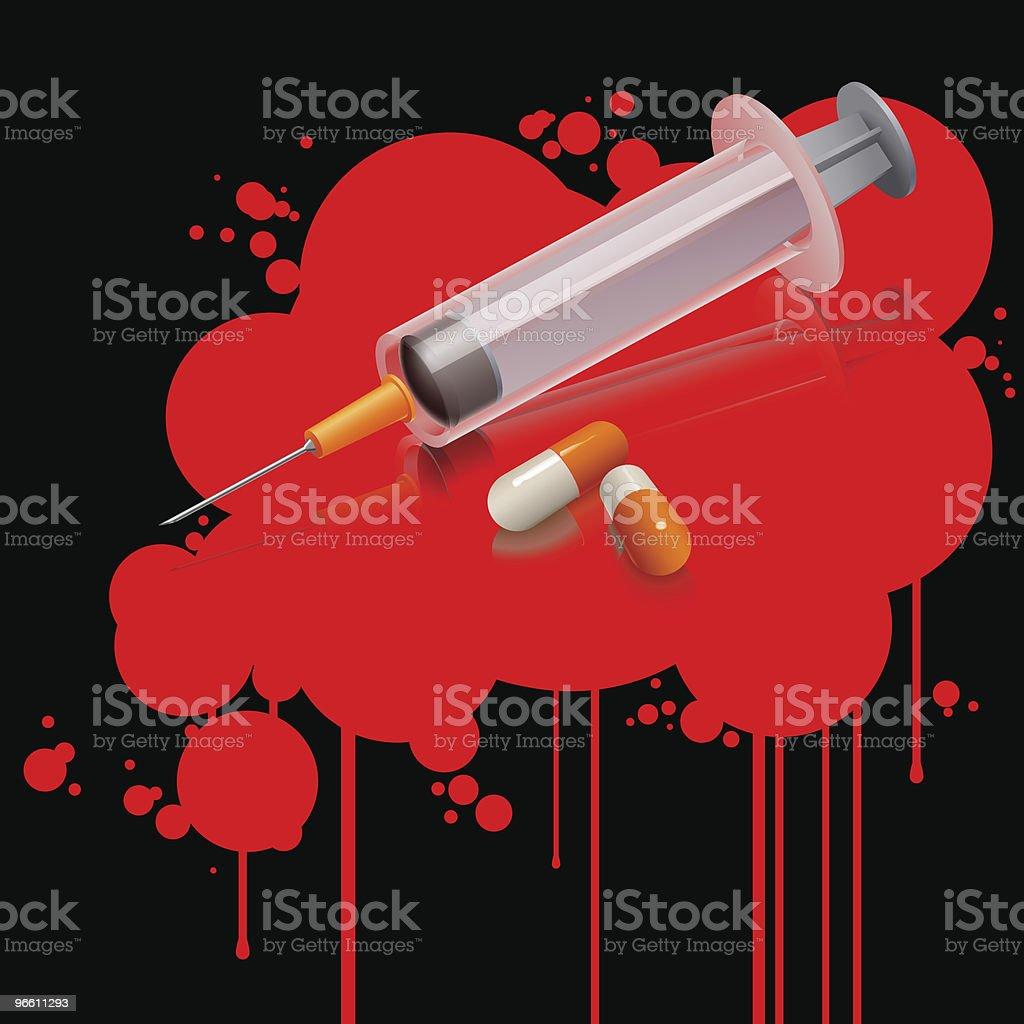 drug kills (vector) - Royaltyfri Datorgrafik vektorgrafik