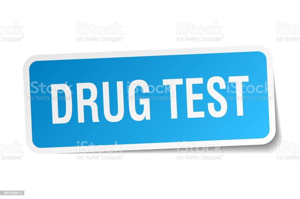 drug test square sticker on white royalty-free drug test square sticker on white stock vector art & more images of badge