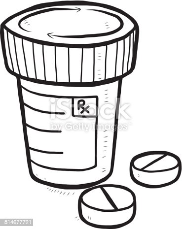 Drugs cartoon hand drawn stock vector art more images of for How to draw a pill