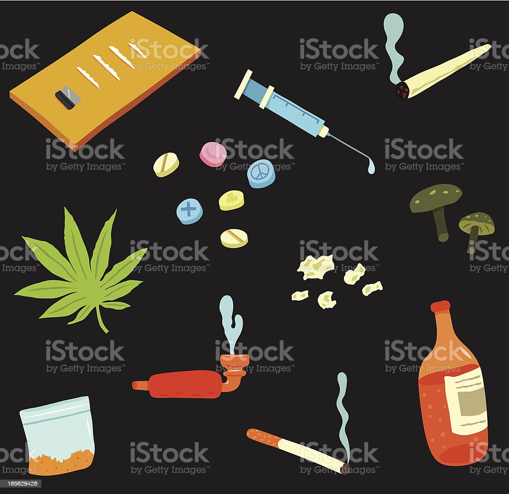 Drugs Collection vector art illustration