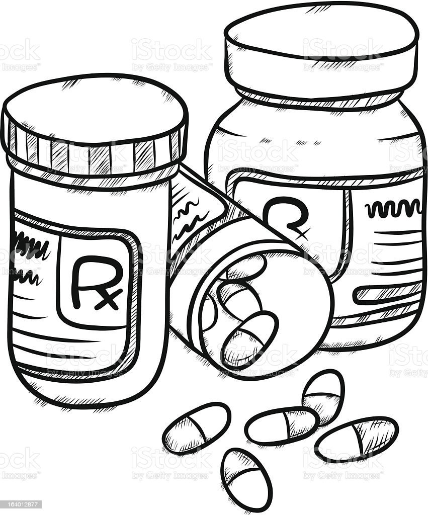 Drugs Drawing Style Stock Vector Art & More Images of ...