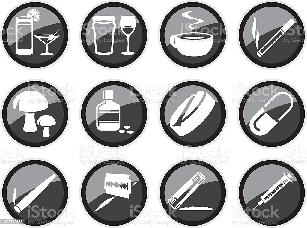 Drugs Icons royalty-free stock vector art