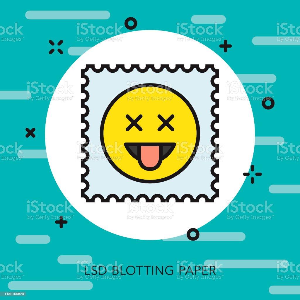 LSD Drugs Thin Line Icon vector art illustration