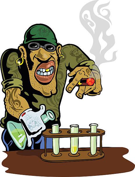 stockillustraties, clipart, cartoons en iconen met drugs - amfetamine