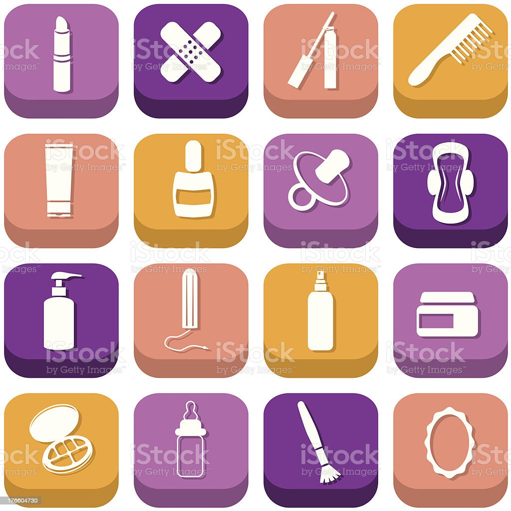 drugstore icons royalty-free stock vector art