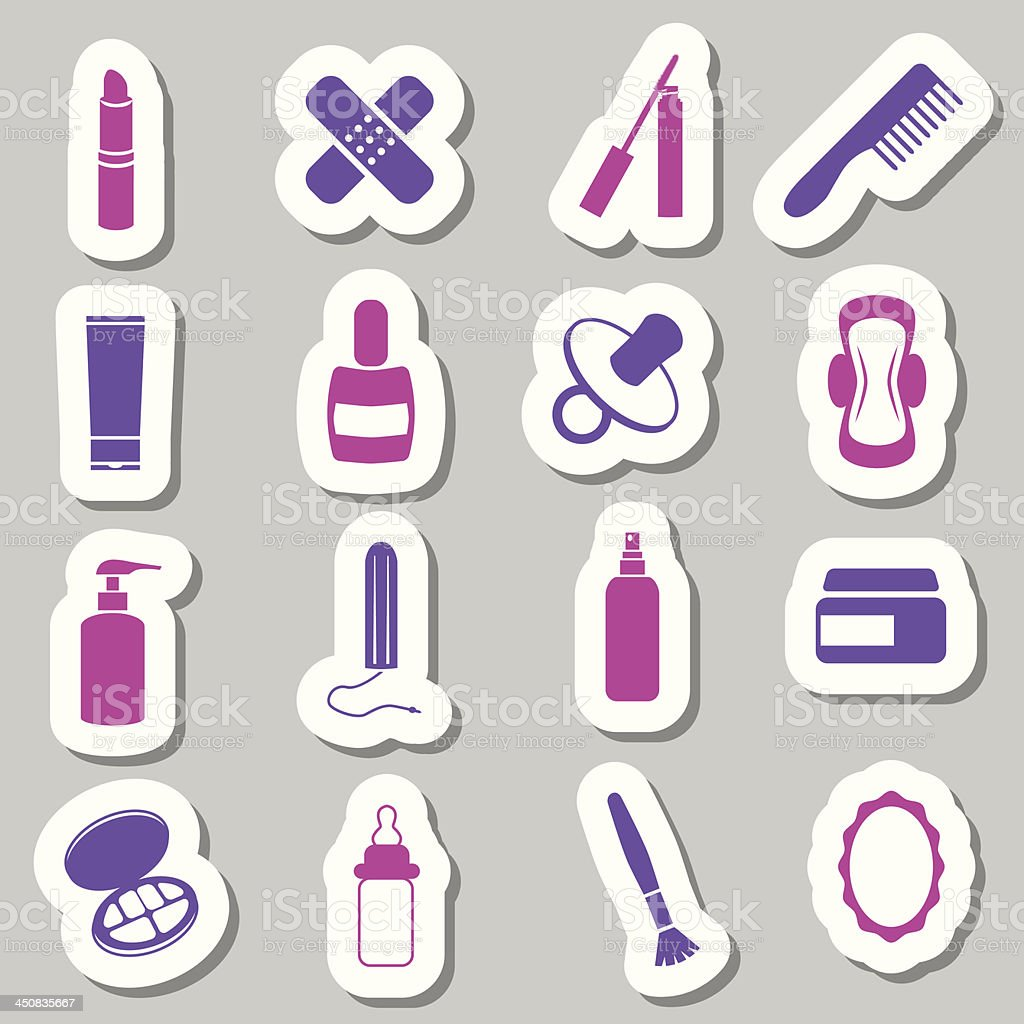 drugstore stickers vector art illustration
