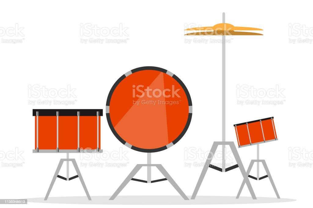 ドラムドラムセットミュージカルドラムのベクトルイラスト 3dの