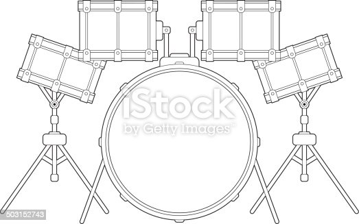 drum kit outline stock vector art  u0026 more images of bass