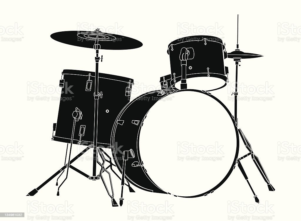Drum Kit Stock Vector Art More Images Of Cymbal 134981032 Istock