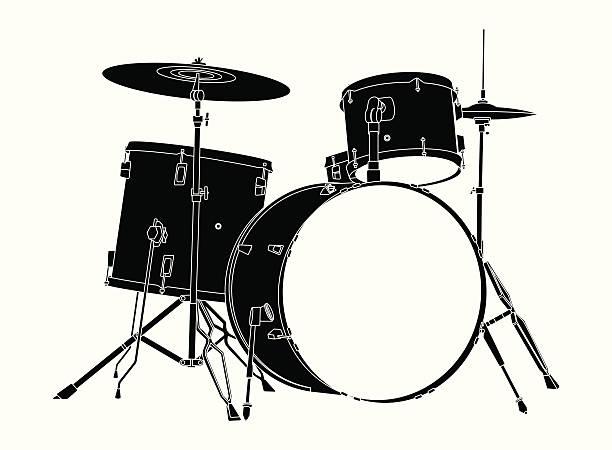 zestaw perkusyjny. - talerz perkusyjny stock illustrations