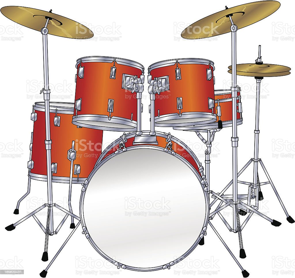 Drum Kit Stock Vector Art & More Images of Arts Culture and ...