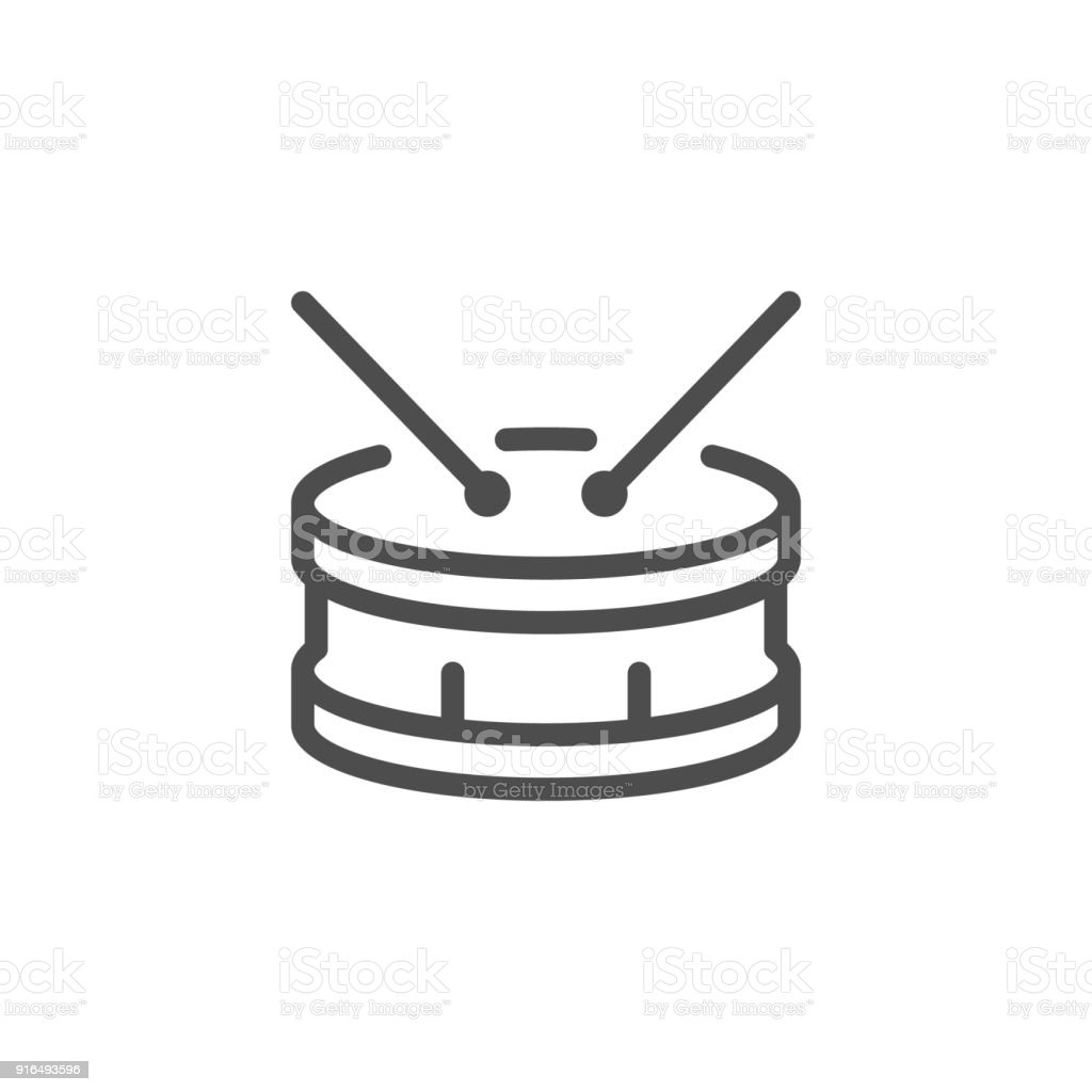 Drum Line Icon Stock Vector Art & More Images of Acoustic Music ...