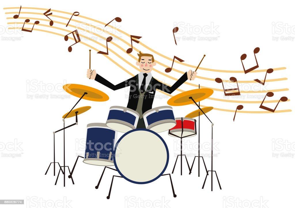 Le Tambour Clipart Musique Scene Musicale Orchestrapercussionjazz Musicien Vecteurs Libres De Droits Et Plus D Images Vectorielles De Adulte Istock