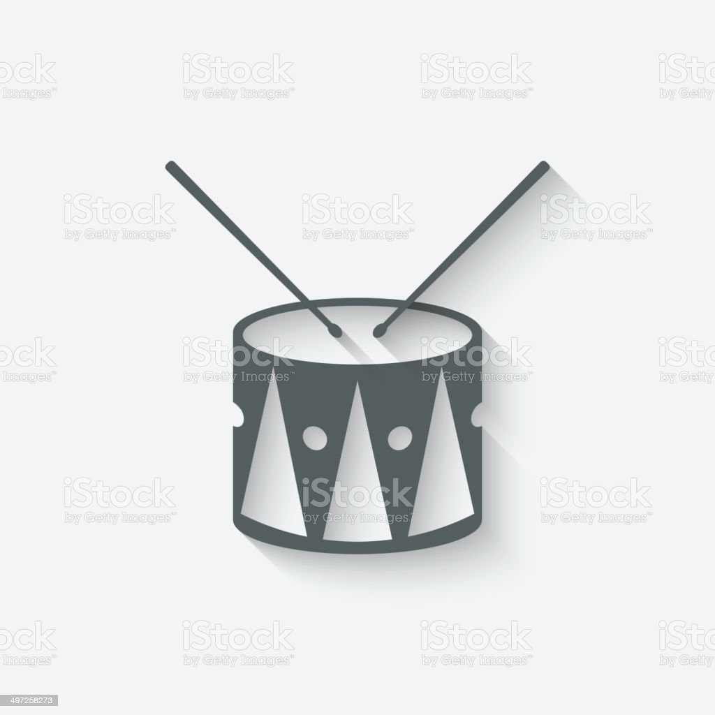 drum music icon royalty-free stock vector art