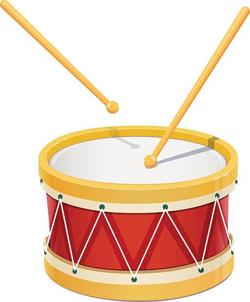 stockillustraties, clipart, cartoons en iconen met drum. music instrument - drum
