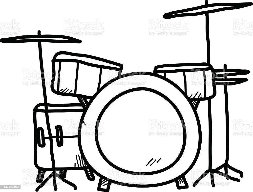 Drum Set Doodle Stock Vector Art & More Images of Arts Culture and ...