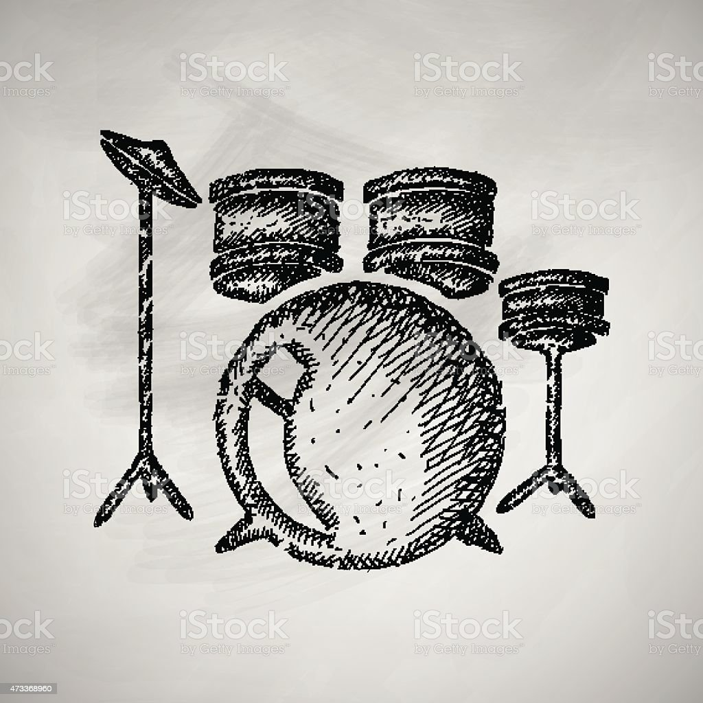 Drum Set Icon Stock Vector Art More Images Of 2015 473368960 Istock