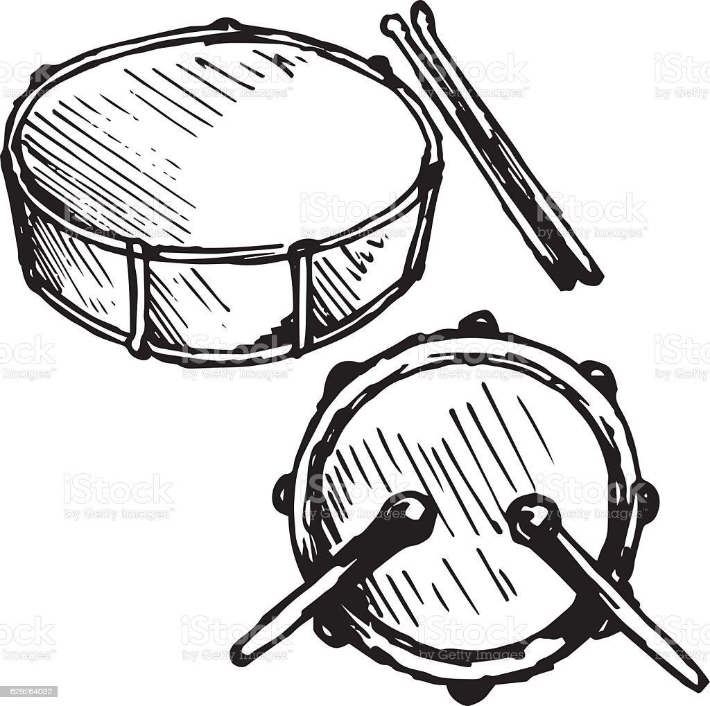drum set royalty free stock vector art