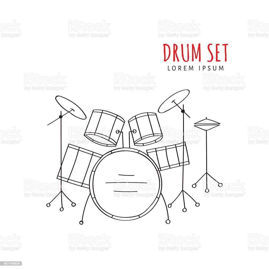 Royalty Free Drum Set Clip Art Vector Images Illustrations Istock