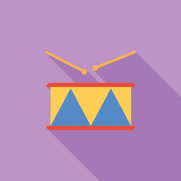 trommel vektor flaches symbol - wunderbaum stock-grafiken, -clipart, -cartoons und -symbole