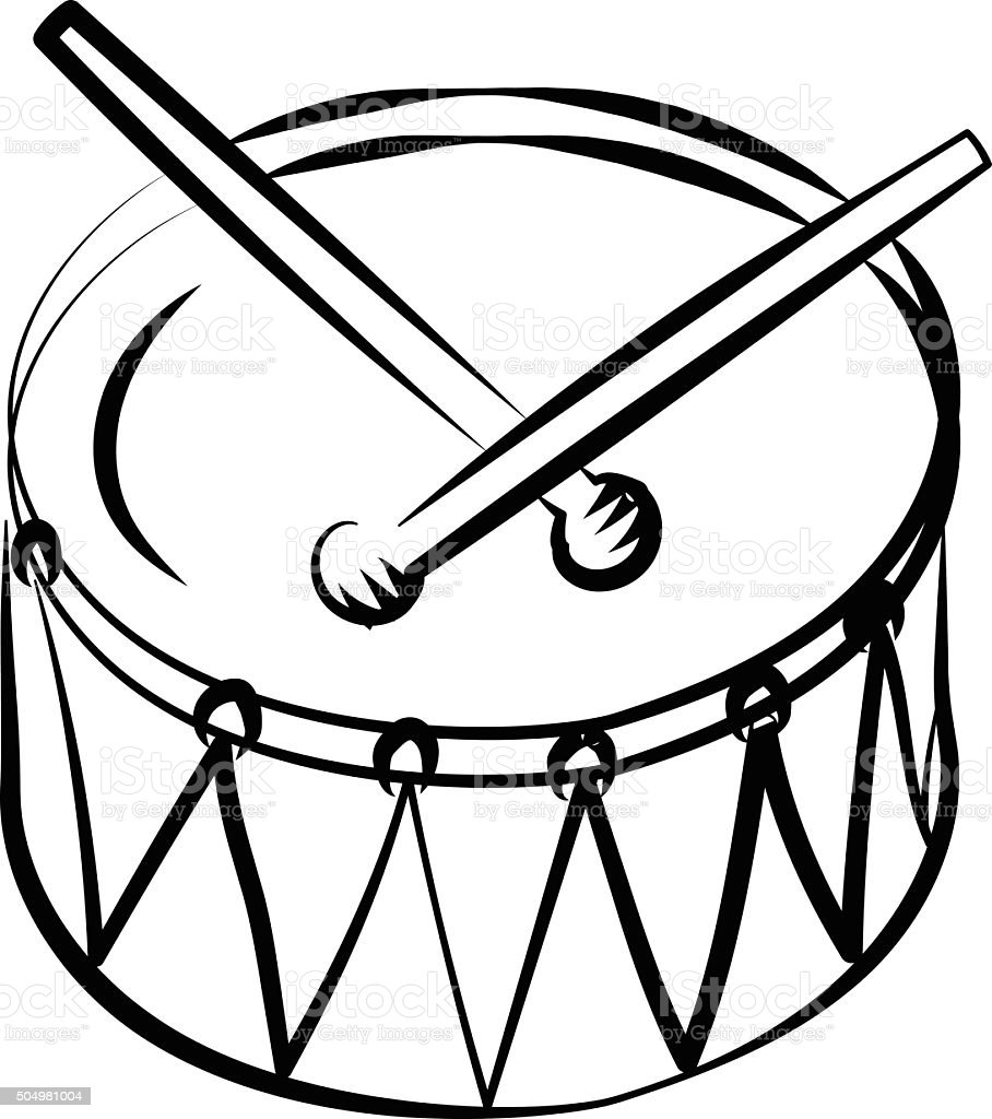 Drum Vector Icon Royalty Free Stock Art Amp More Images