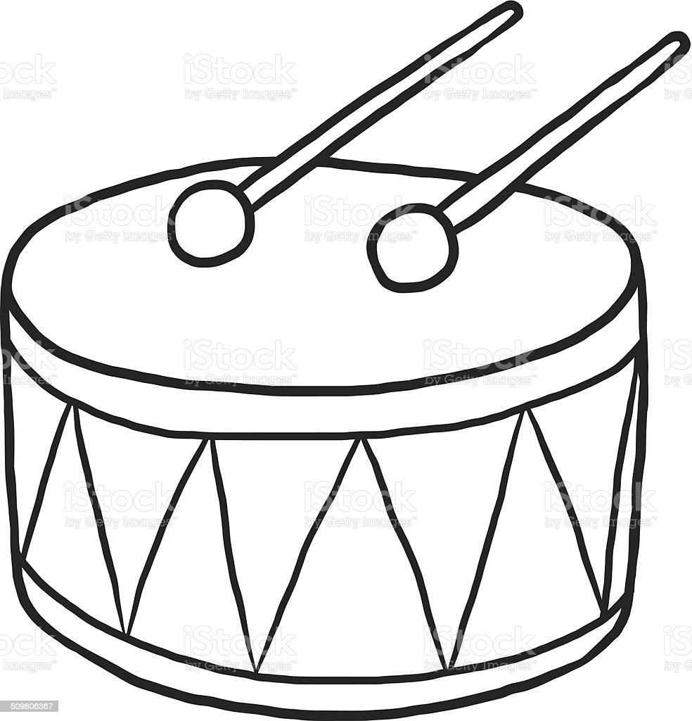 royalty free drum black and white clip art  vector images snare drum clip art free snare drum clipart black and white