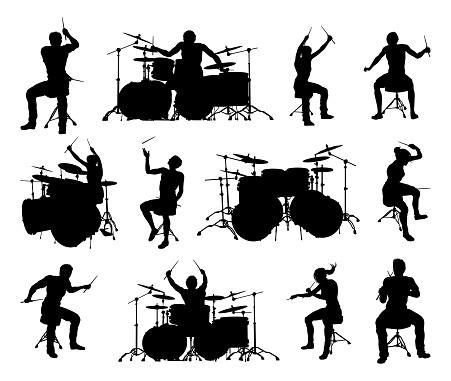 Drummer Musician Silhouettes