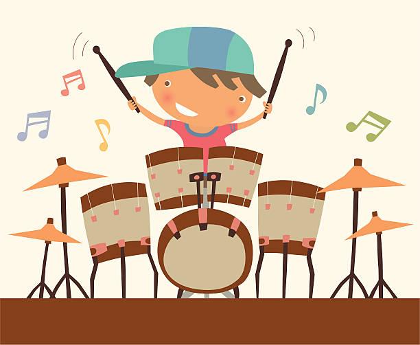 Drummer vector art illustration