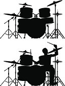 Each drum is separate and complete.