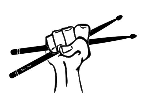 Drumsticks In Hand Vector