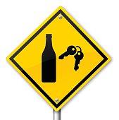 Drunk Driving Warning Sign