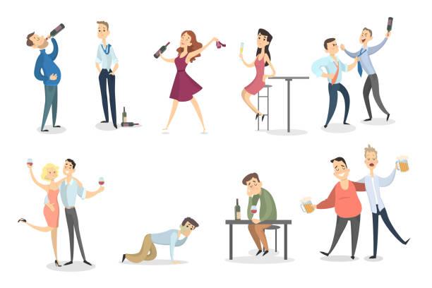 ilustraciones, imágenes clip art, dibujos animados e iconos de stock de juego de borrachos. - comida cruda