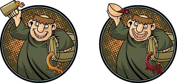 ilustraciones, imágenes clip art, dibujos animados e iconos de stock de drunken monk - hermano