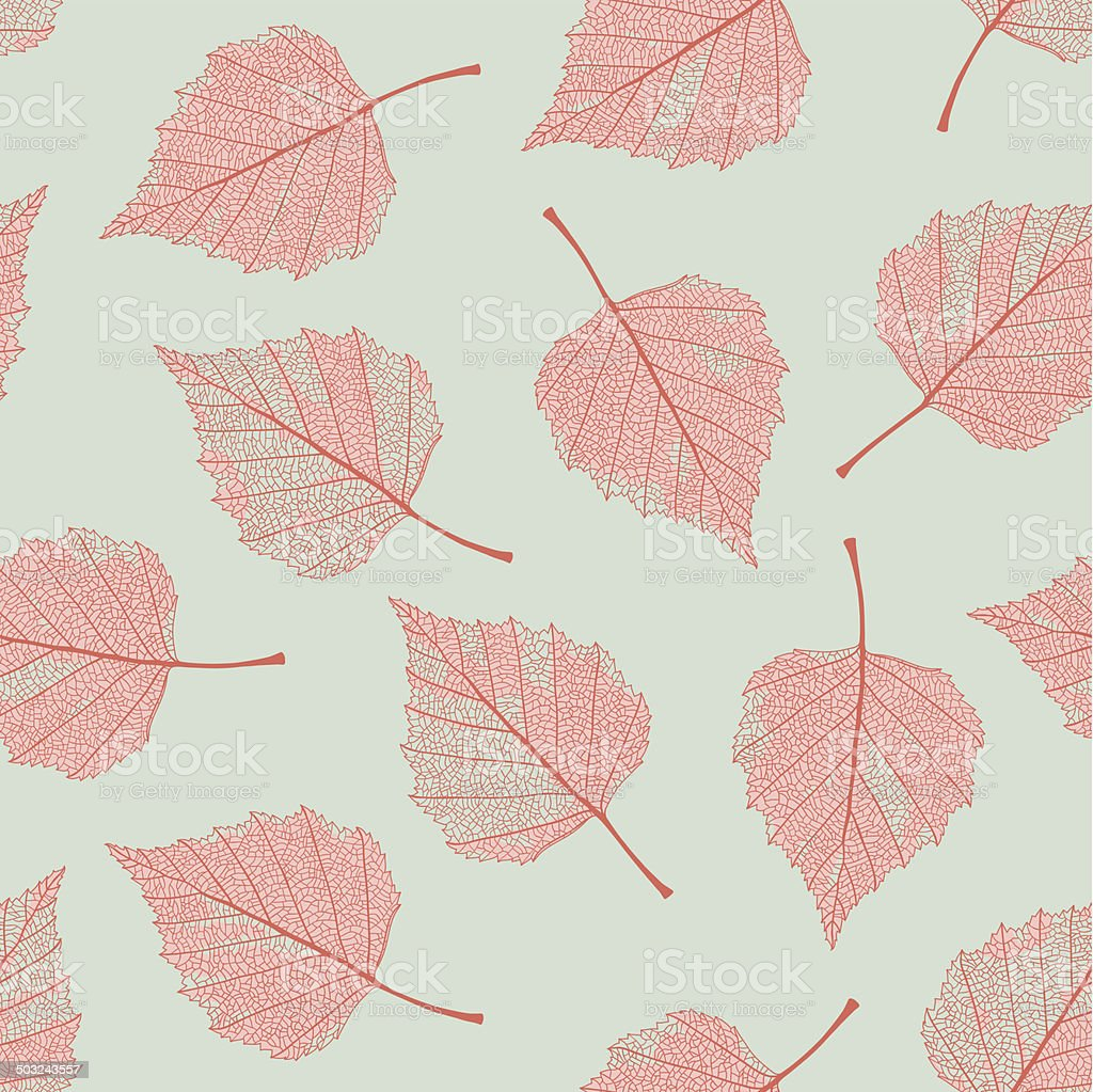 Dry birch leaves seamless pattern. royalty-free stock vector art