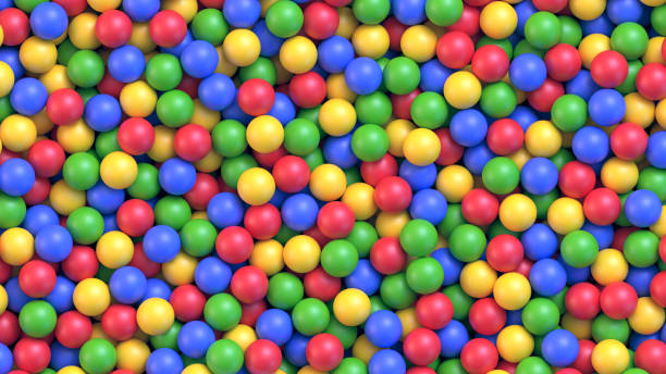 dry children's pool with colorful plastic balls - empty vending machine stock illustrations