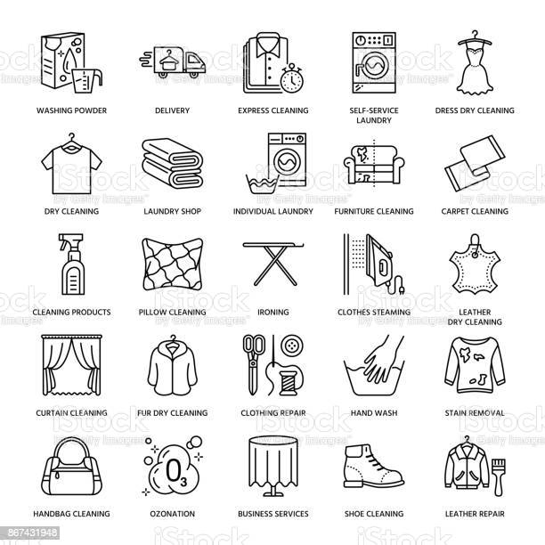 Dry cleaning laundry line icons launderette service equipment washing vector id867431948?b=1&k=6&m=867431948&s=612x612&h=ukmpazdtps7nubrv3xk8s4gosyc5mmtcnl7x6z32hje=