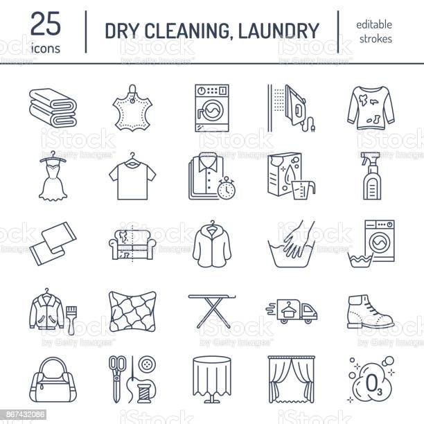 Dry cleaning laundry line icons launderette service equipment washing vector id867432086?b=1&k=6&m=867432086&s=612x612&h=oygffpbz5hhjiif3dht3q rg3ljw8kpqk7uvegqjugw=