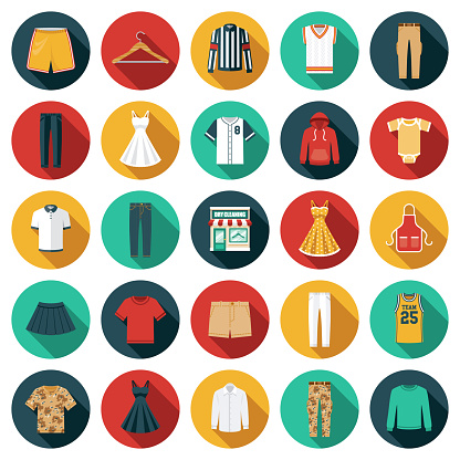 Dry Cleaning Shop Icon Set