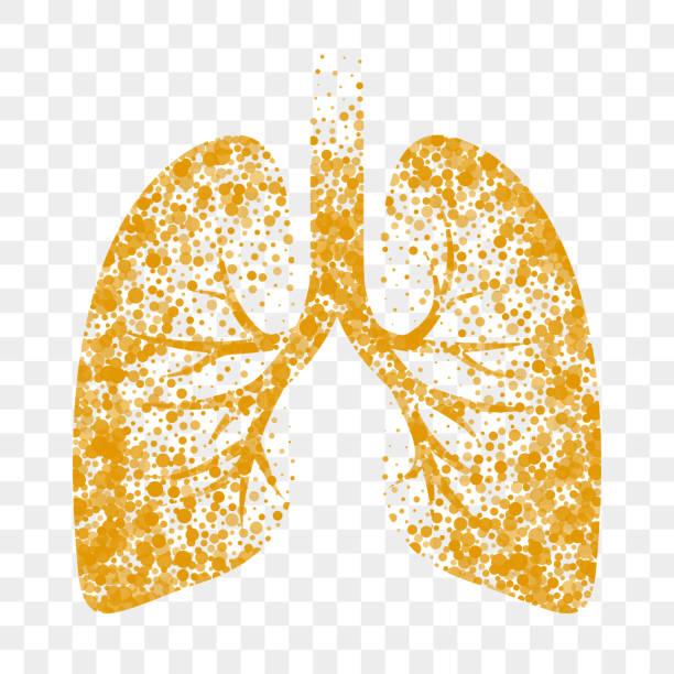 stockillustraties, clipart, cartoons en iconen met droge hoest vector pictogram. longen, koude droge hoest en bronchitis slijmoplossende remedie - longen