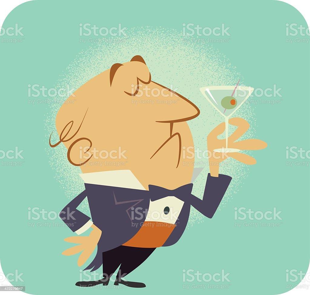 Dry Martini royalty-free stock vector art