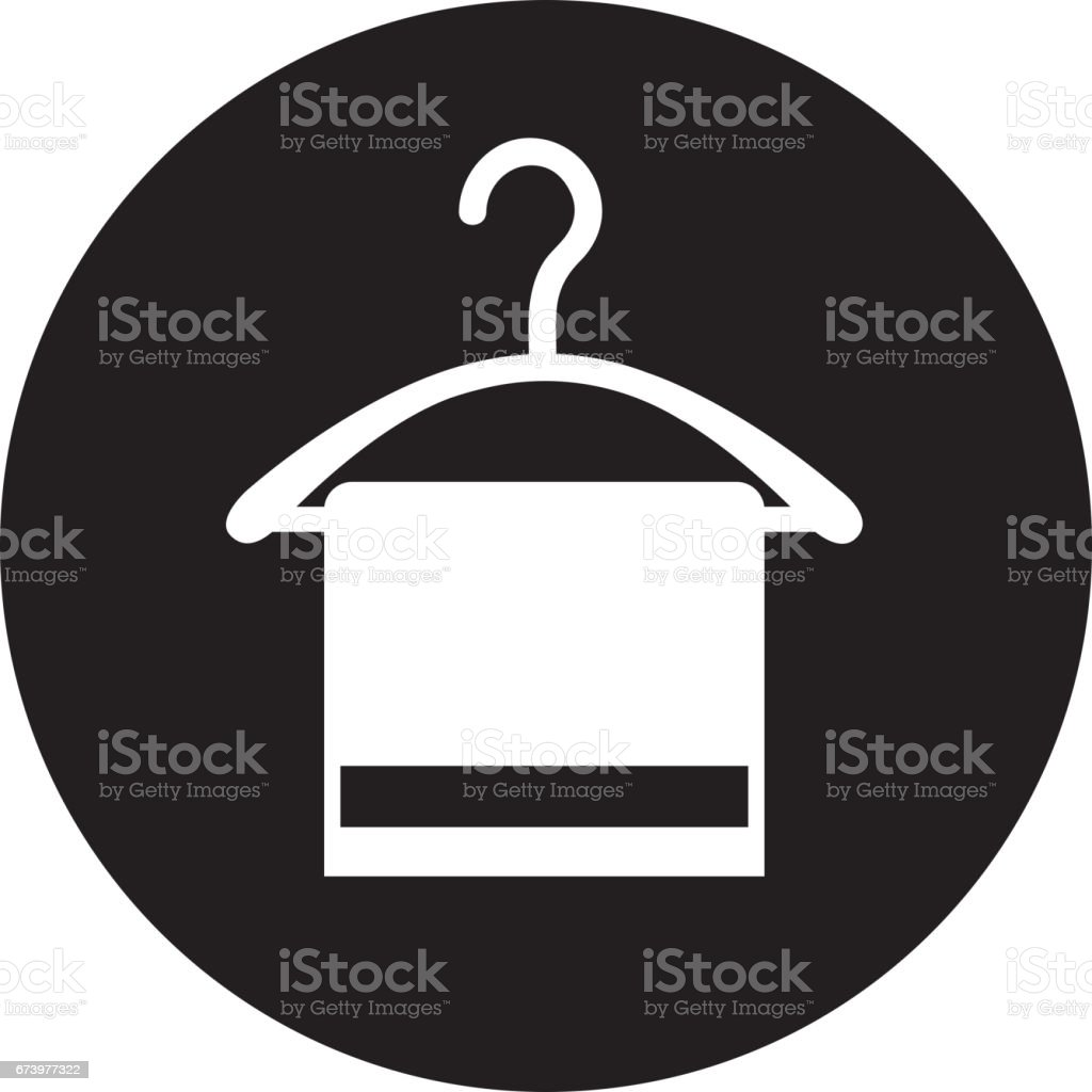 Drying hook with towel laundry icon royalty-free drying hook with towel laundry icon stock vector art & more images of arts culture and entertainment