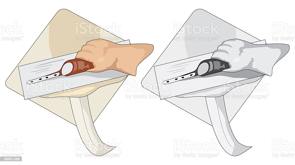 Drywall Repair with Hand and Trowel on Construction Hawk royalty-free drywall repair with hand and trowel on construction hawk stock vector art & more images of clip art