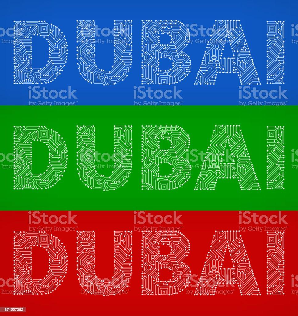 Color art dubai - Dubai Circuit Board Color Vector Backgrounds Royalty Free Stock Vector Art
