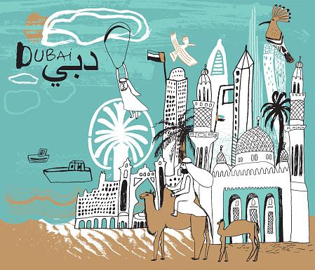 Dubai city in UAE