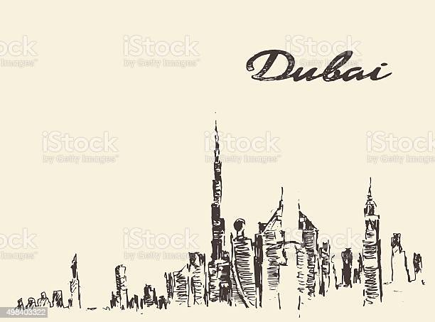 Dubai city skyline hand drawn vector illustration vector id498403322?b=1&k=6&m=498403322&s=612x612&h=lrcaumw97y8jgycoap5cdsw0i3izfvmkuzt7cxbce8g=