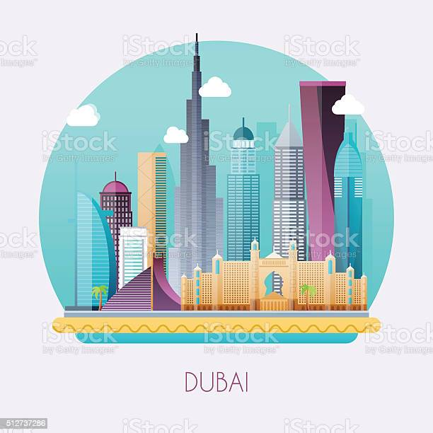 Dubai skyline and vector landscape of buildings and famous land vector id512737286?b=1&k=6&m=512737286&s=612x612&h=zetchnzffpa isx8oympvx5alcaoq14y5eymdgtnmzc=
