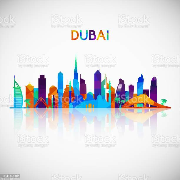 Dubai skyline silhouette in colorful geometric style symbol for your vector id924149252?b=1&k=6&m=924149252&s=612x612&h=g0uzf0eefrsgqlquviv 4ajdly0ihccwotb4jnh5me4=