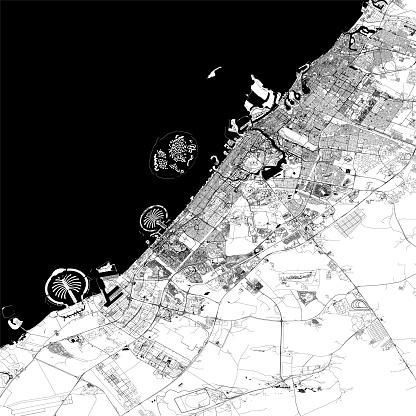 Dubai Vector Map